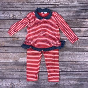 Red and white striped outfit